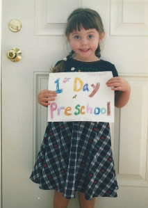 Her fist day of school!